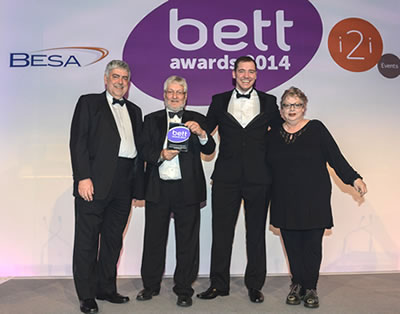Receiving the BETT Award